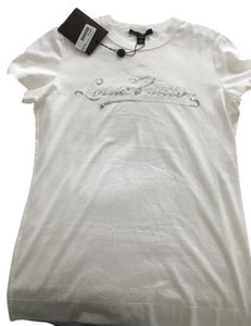 Louis Vuitton Embellished Casual T Shirt White