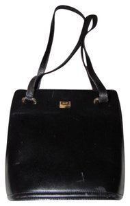 Bally Bucket Gold Hardware Excellent Vintage Xl Dressy Or Casual Satchel in black leather