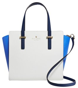 Kate Spade Satchel in white/blue