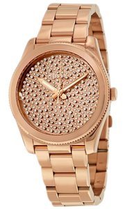 Fossil ES3690 Boyfriend Women Rose Gold Metal Bracelet With Rose Analog Dial