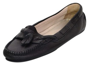 Chanel Leather Loafers Black Flats