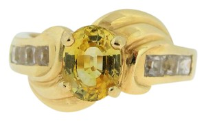 Other Vintage Yellow And White Topaz Ring-14k Yellow Gold
