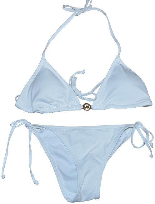 Item - White Gold Cruise 2018 Mk Logo Two Piece Swimsuit S Bikini Set Size 6 (S)