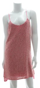 Parker Leather Sequin Tank Sleeveless Beading Dress