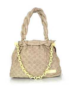 Louis Vuitton Monogram Embroidered Chain Tote in Taupe