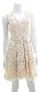French Connection Spring Summer Crochet Floral Lace Dress