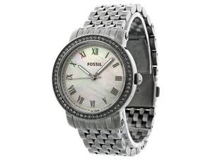 Fossil ES3114 Stella Silver Metal Bracelet With Mother Of Pearl Dial