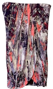 Three Dots Soft Tie Dye Stretchy Casual Light Skirt Multi