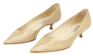 Jimmy Choo Kitten Heels 1937 Beige Pumps