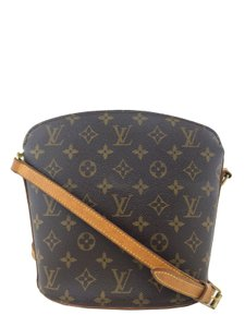 Louis Vuitton Gold Hardware Leather Cross Body Bag