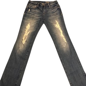 Anoname Straight Leg Jeans-Distressed
