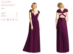 Twobirds Aubergine Classic Ballgown Dress