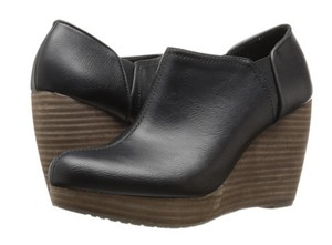 Dr. Scholl's Stacked Boots Black Wedges
