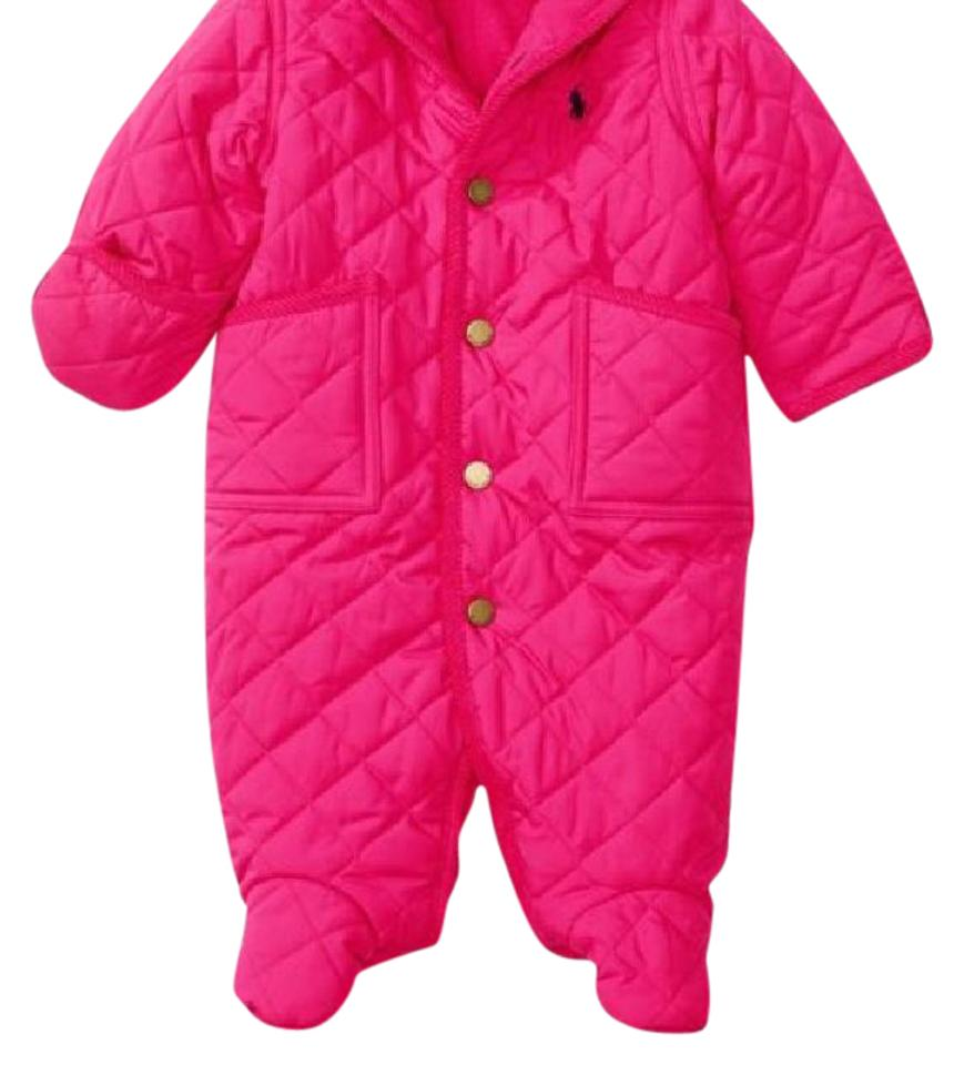 35c8b4f44 Ralph Lauren Pink Infant Girls Bunting Snowsuit Jacket 9m Coat Size ...