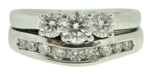 Other Three Stone Diamond Soldered Engagement Ring -14k White Ring