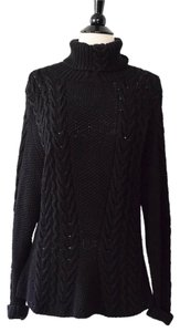 Ruff Hewn Silk Luxe Cableknit Fishermans Sweater