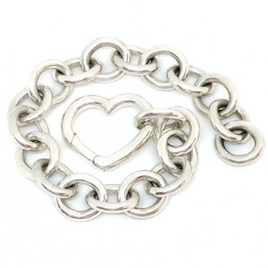 Tiffany & Co. Tiffany & Co. Great Size Heart Clasp with Extra Large Cable Chain Bracelet