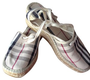 Burberry Checked Wedges