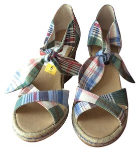 Tommy Hilfiger Checked Wedges