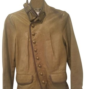 RED Valentino Olive green Leather Jacket