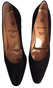 Bruno Magli Designer Classic Pump Heels Black Pumps