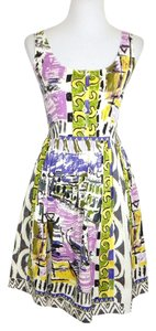 Prada short dress Multi Color Retro Sleeveless Spring Summer Italian on Tradesy