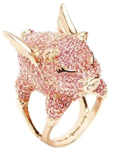 Kate Spade New Kate Spade Pave Flying Pig Cocktail Ring Pink Pave Sz 6