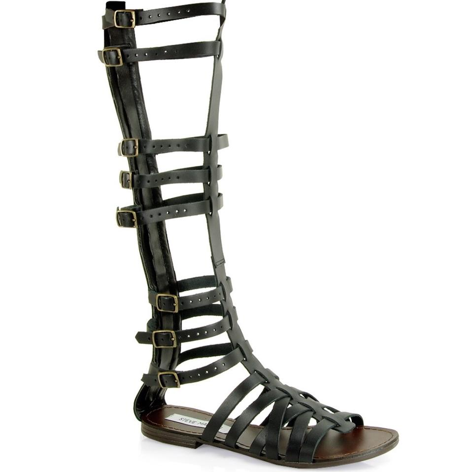 cf2eed6d7554 Steve Madden Sparta Gladiator Leather Sandals Size US 7 Regular (M ...