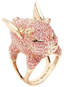 Kate Spade New Kate Spade Pave Flying Pig Cocktail Ring Pink Pave Sz 8