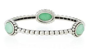 Lagos Lagos Sterling Silver Bracelet Maya Triple Variscite Station Bangle