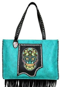 Montana West Tote in Turquoise/Multicolor