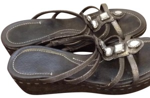 Donald J. Pliner Pewter Sandals