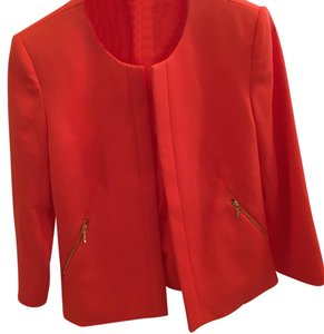 Arthur S Levine for TAHARI Bright Orange perfect jacket