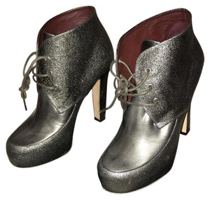Chanel Grey-Pewter Boots