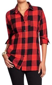 Old Navy Button Down Shirt Red/black
