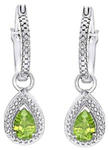 Other ** NWT ** PERIODT & DIAMOND ACCENT ( 14k WHITE GOLD ) DANGLE EARRINGS