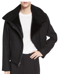 Vince Fur Wool Cashmere Motorcycle Jacket