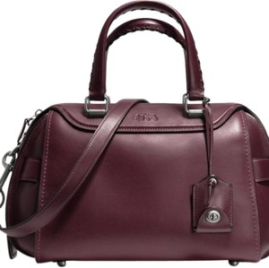 Coach Satchel in Eggplant