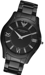 Emporio Armani New In THe Box Emporio Armani Super Slim Black Ceramic Watch AR1440
