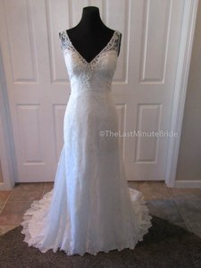 Sottero and Midgley Ivory Lace Perri 6st243 Feminine Wedding Dress Size 12 (L)