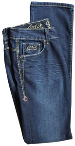 Artik Denim Gallery Skinny Embroidered Leather Buttons Skinny Jeans-Light Wash