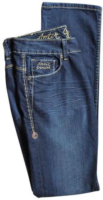 Item - Blue Distressed Antikgallery Skinny Jeans Size 28 (4, S)