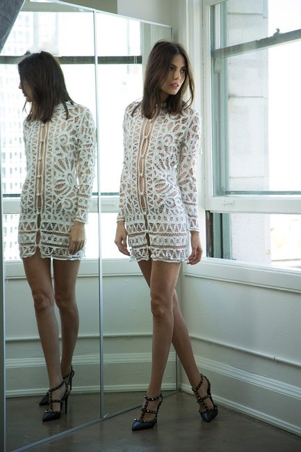 Stone Cold Fox Lace Bohemian Made In Usa Dress Image 2
