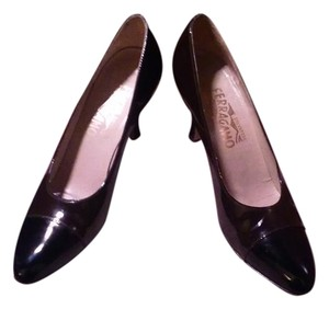 Salvatore Ferragamo Patton Leather Brown/Black Pumps