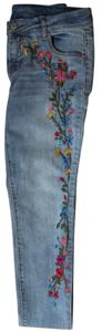 Cherokee Embroidered Skinny Jeans-Light Wash