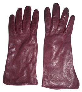 Coach Coach Ladies Leather and Cashmere Gloves