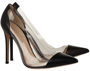 Gianvito Rossi Plexi Pvc Cap Toe Black Pumps