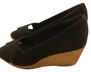 Chaps Espadrille Black Wedges