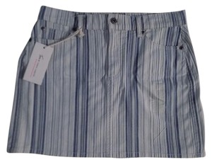 Vince Camuto Mini Skirt Blue and White Stripe