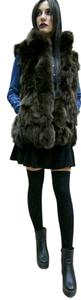 AS Furs Fox Fur Poncho Vest